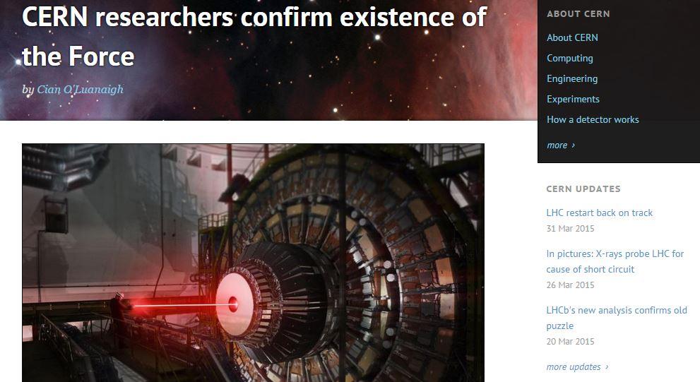 CERNtheForce